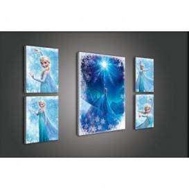 Obraz na plátne viacdielny - OB2945 - Ľadové kráľovstvo Elsa