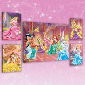 Obraz na plátne viacdielny - OB2946 - Princezné a maznáčikovia