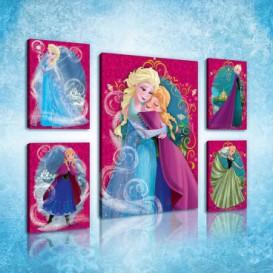 Obraz na plátne viacdielny - OB2954 - Ľadové kráľovstvo Elsa a Anna