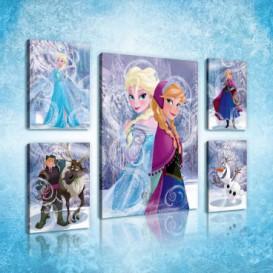 Obraz na plátne viacdielny - OB2955 - Ľadové kráľovstvo Elsa a Anna