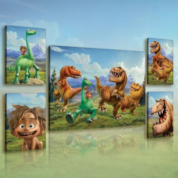 Obraz na plátne viacdielny - OB2960 - Dobrý Dinosaurus