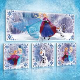 Obraz na plátne viacdielny - OB2971 - Ľadové kráľovstvo Elsa a Anna
