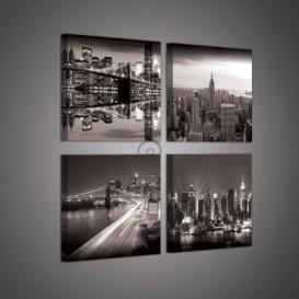Obraz na plátne viacdielny - OB2981 - New York čierno biely