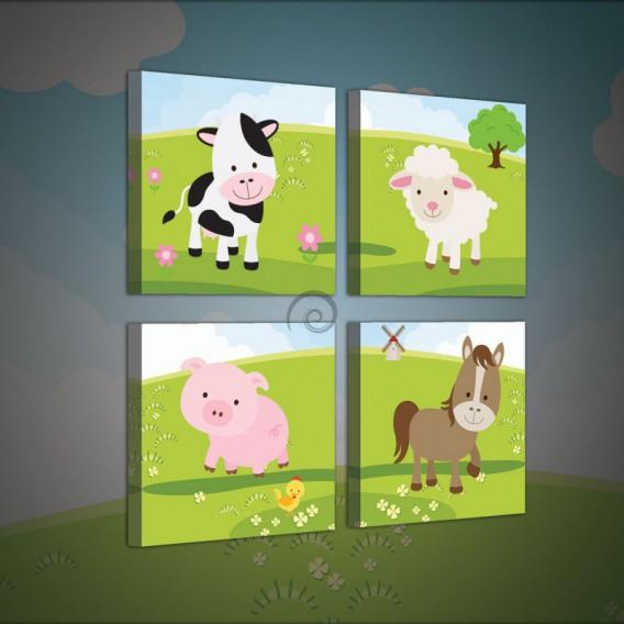 Obraz na plátne viacdielny - OB2987 - Domáce zvieratká