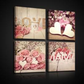 Obraz na plátne viacdielny - OB2992 - Vintage ruže