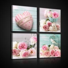 Obraz na plátne viacdielny - OB2993 - Vintage ruže