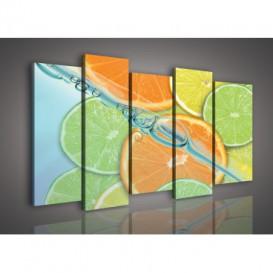 Obraz na plátne viacdielny - OB3009 - Pomaranče a limetky