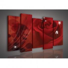Obraz na plátne viacdielny - OB3013 - Červená ruža