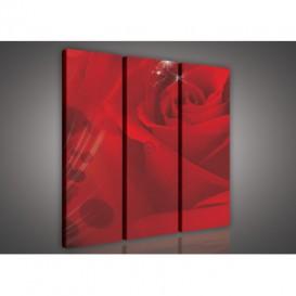 Obraz na plátne viacdielny - OB3041 - Červená ruža