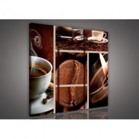 Obraz na plátne viacdielny - OB3056 - Mozaika káva