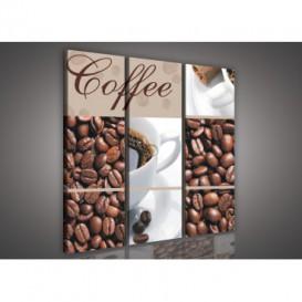 Obraz na plátne viacdielny - OB3057 - Mozaika káva