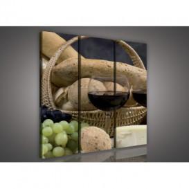 Obraz na plátne viacdielny - OB3058 - Víno