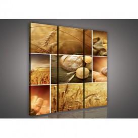 Obraz na plátne viacdielny - OB3059 - Mozaika pečivo