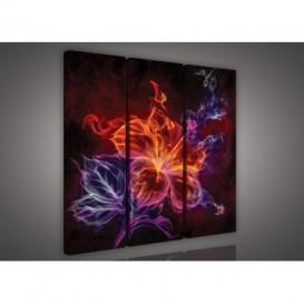 Obraz na plátne viacdielny - OB3090 - Abstraktný kvet