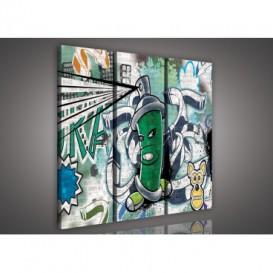 Obraz na plátne viacdielny - OB3104 - Grafit
