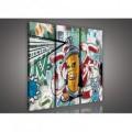 Obraz na plátne viacdielny - OB3106 - Grafit