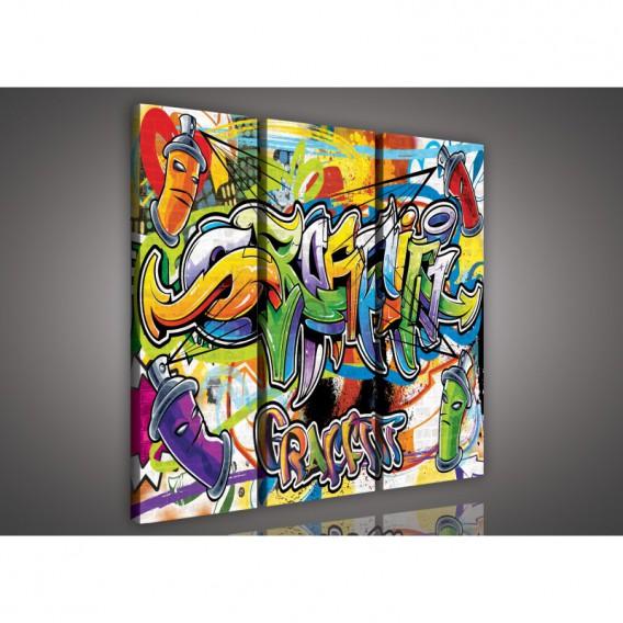 Obraz na plátne viacdielny - OB3107 - Grafity