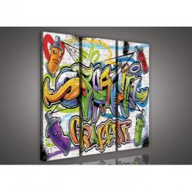 Obraz na plátne viacdielny - OB3120 - Grafity