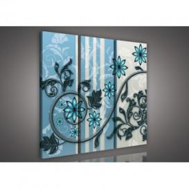 Obraz na plátne viacdielny - OB3130 - Modré kvety