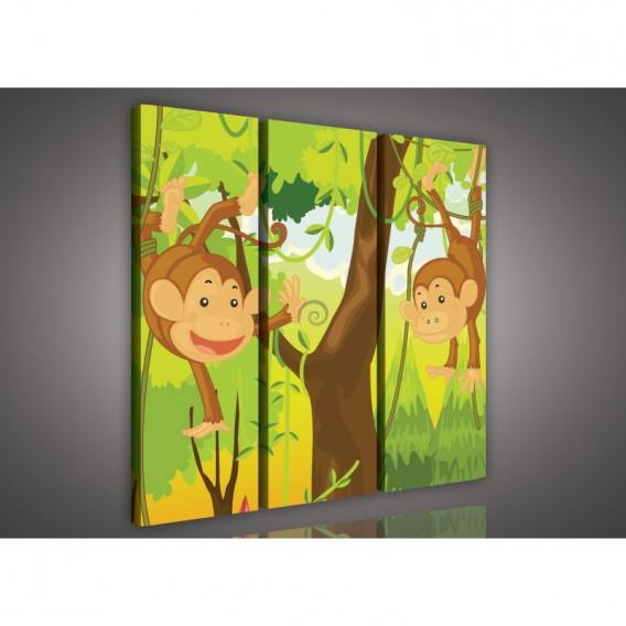 Obraz na plátne viacdielny - OB3132 - Opičky