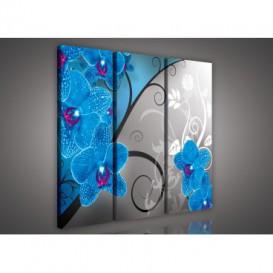 Obraz na plátne viacdielny - OB3139 - Modrá orchidea