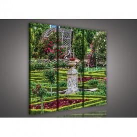 Obraz na plátne viacdielny - OB3165 - Záhrada kvetov