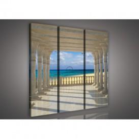 Obraz na plátne viacdielny - OB3169 - Výhľad na oceán