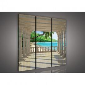 Obraz na plátne viacdielny - OB3173 - Výhľad na pláž