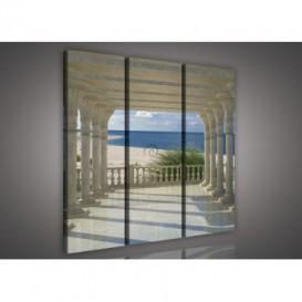 Obraz na plátne viacdielny - OB3175 - Výhľad na pláž a more