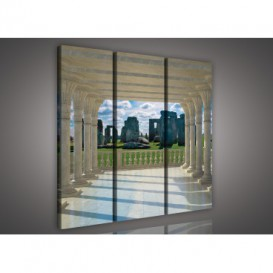 Obraz na plátne viacdielny - OB3178 - Výhľad na Stonehenge