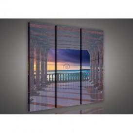 Obraz na plátne viacdielny - OB3180 - Výhľad na more