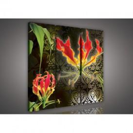 Obraz na plátne viacdielny - OB3187 - Abstraktný kvet
