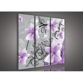 Obraz na plátne viacdielny - OB3243 - Fialové kvety