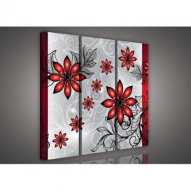 Obraz na plátne viacdielny - OB3253 - Červené kvety