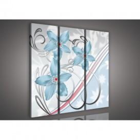 Obraz na plátne viacdielny - OB3255 - Belasé kvety