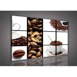 Obraz na plátne viacdielny - OB3326 - Mozaika káva