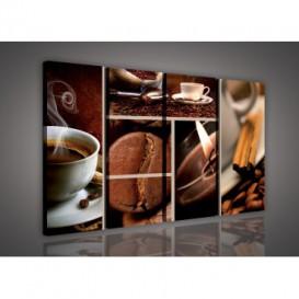Obraz na plátne viacdielny - OB3327 - Mozaika káva
