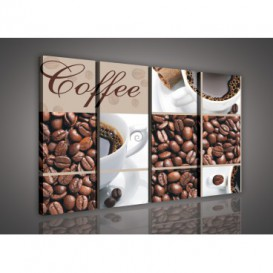 Obraz na plátne viacdielny - OB3328 - Mozaika káva