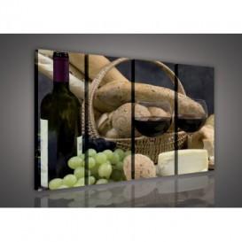 Obraz na plátne viacdielny - OB3329 - Víno