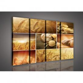 Obraz na plátne viacdielny - OB3330 - Mozaika pečivo
