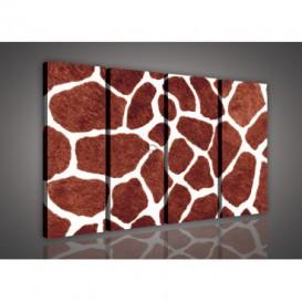 Obraz na plátne viacdielny - OB3334 - Žirafia koža