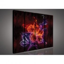 Obraz na plátne viacdielny - OB3348 - Abstraktný kvet