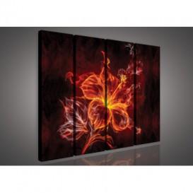 Obraz na plátne viacdielny - OB3349 - Abstraktný kvet