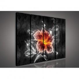Obraz na plátne viacdielny - OB3350 - Abstraktný kvet