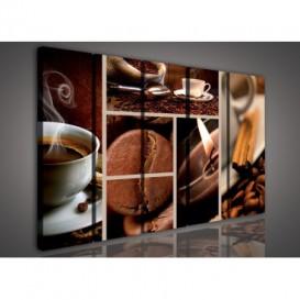 Obraz na plátne viacdielny - OB3356 - Mozaika káva