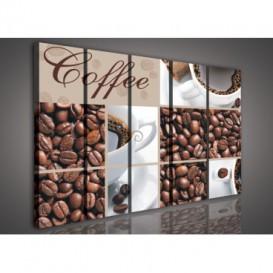 Obraz na plátne viacdielny - OB3357 - Mozaika káva