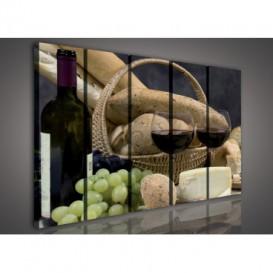 Obraz na plátne viacdielny - OB3358 - Víno