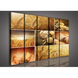 Obraz na plátne viacdielny - OB3359 - Mozaika pečivo