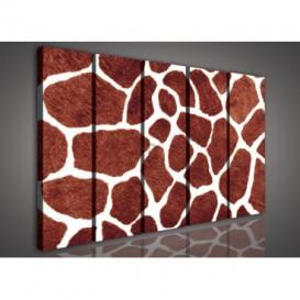 Obraz na plátne viacdielny - OB3363 - Žirafia koža