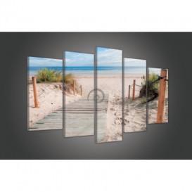 Obraz na plátne viacdielny - OB3452 - Pláž